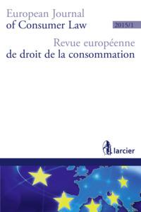 REVUE EUROP. DROIT CONSOMMAT. 2015/1