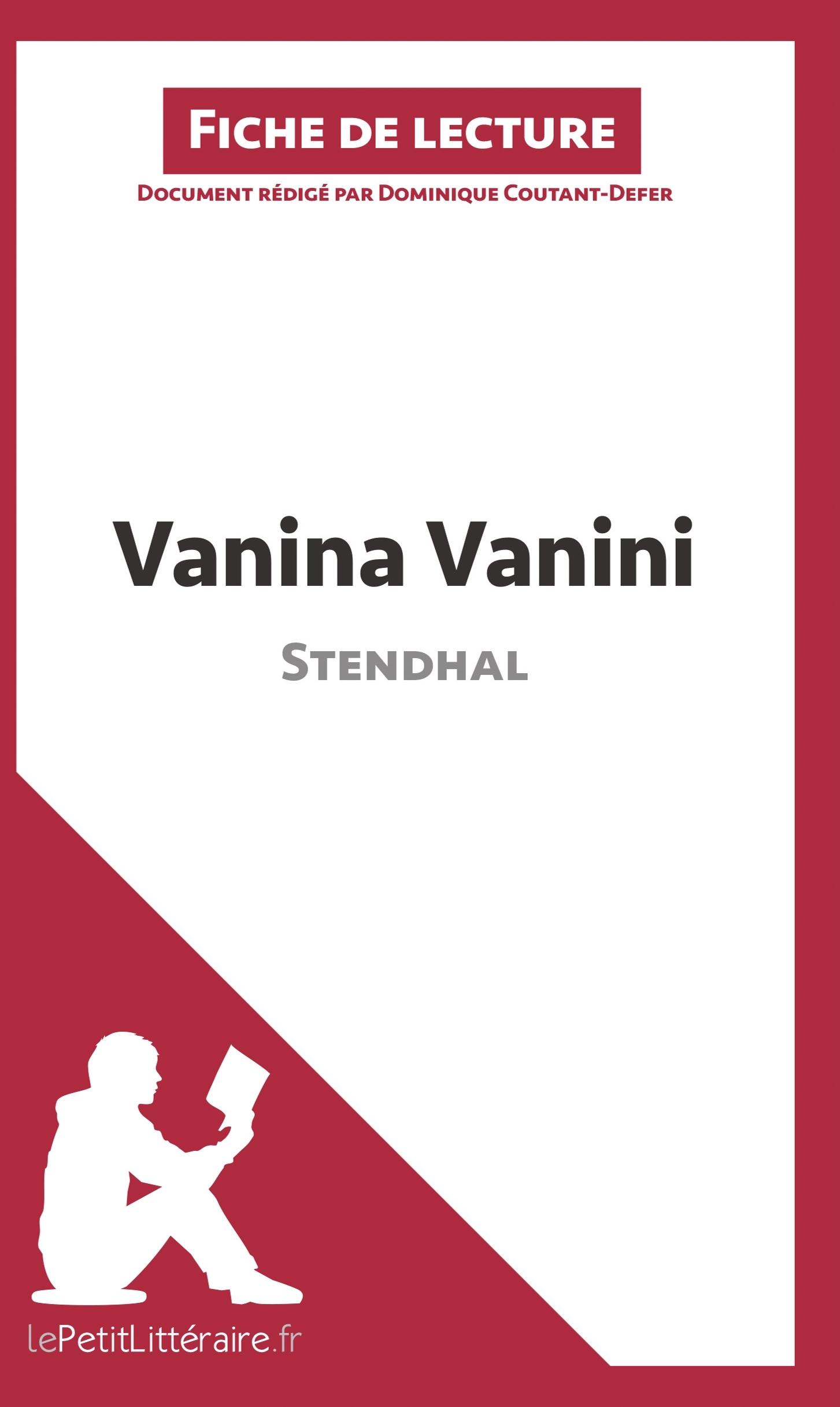 ANALYSE VANINA VANINI DE STENDHAL ANALYSE COMPLETE DE L UVRE ET RESUME