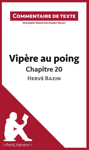 COMMENTAIRE COMPOSE VIPERE AU POING D HERVE BAZIN CHAPITRE 20