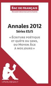 BAC DE FRANCAIS 2012 ANNALES SERIE ES S CORRIGE