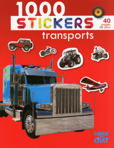 1000 STICKERS TRANSPORTS (FOND ROUGE)