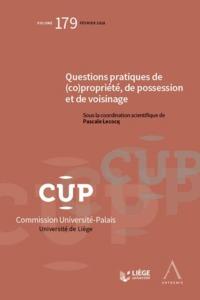 QUESTIONS PRATIQUES DE (CO)PROPRIETE, DE POSSESSION ET DE VOISINAGE