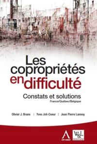 LES COPROPRIETES EN DIFFICULTE 2EME ED - CONSTATS ET SOLUTIONS FRANCE QUEBEC BELGIQUE