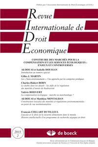 REVUE INTERNATIONALE DE DROIT ECONOMIQUE 2015/2