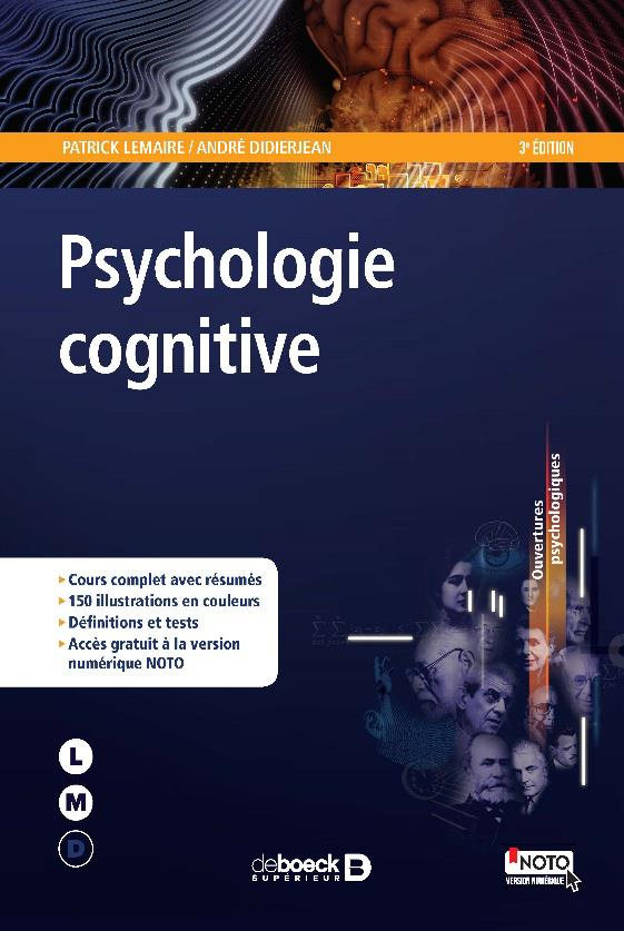 INTRODUCTION A LA PSYCHOLOGIE COGNITIVE