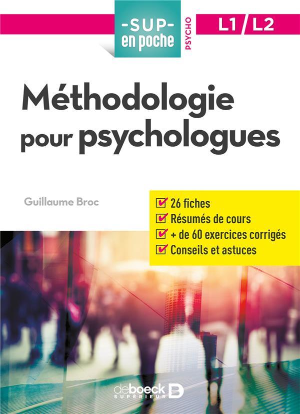 METHODOLOGIE POUR PSYCHOLOGUES
