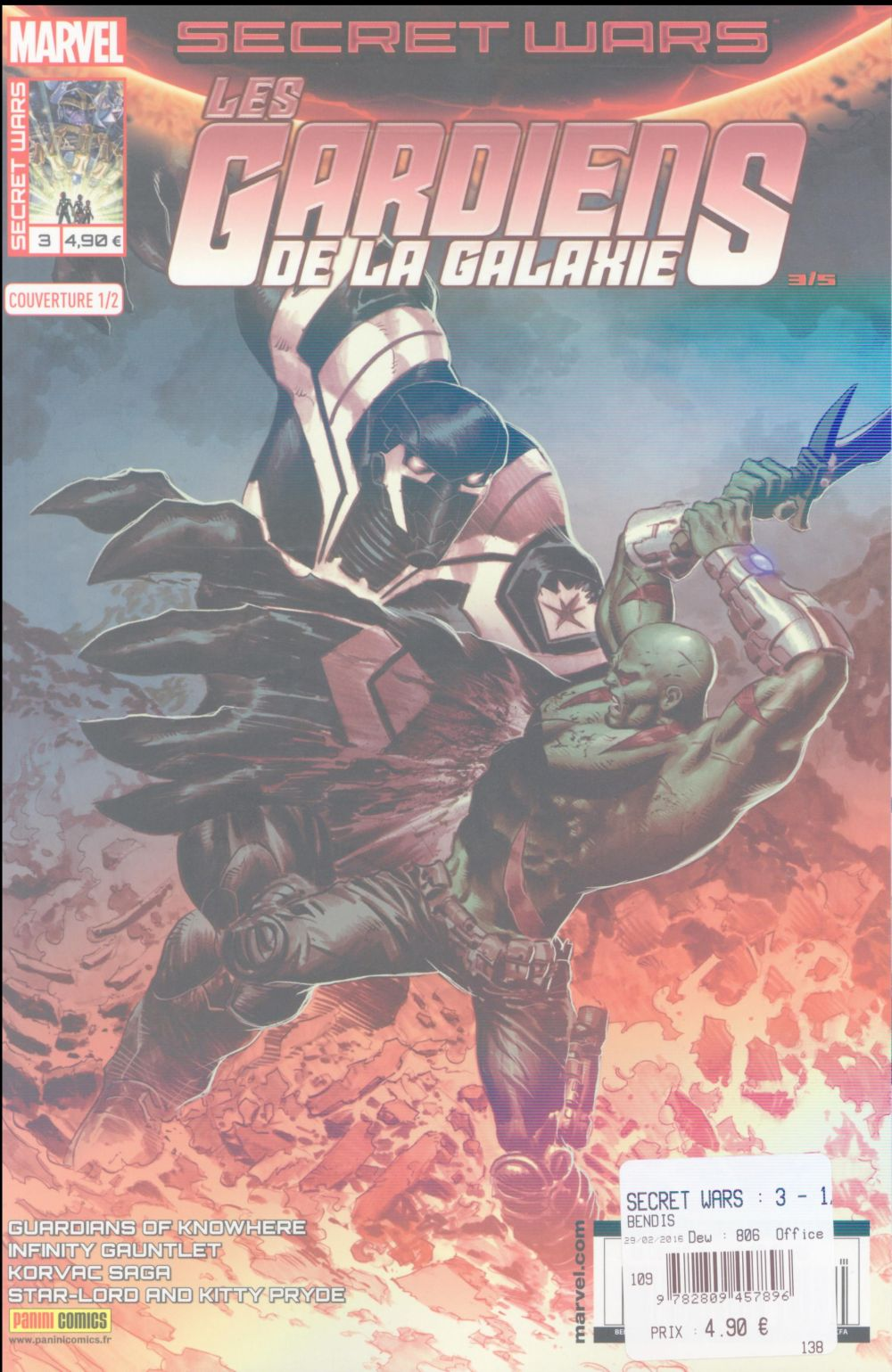 SECRET WARS : 3 - 1/2 LES GARDIENS DE LA GALAXIE M.DEODATO JR
