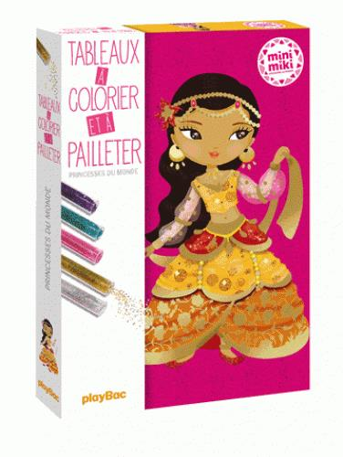 MINIMIKI - CARTE A PAILLETER - PRINCESSES DU MONDE - EDITION 2016