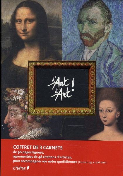 COFFRET DE 3 CARNETS DE NOTES D'ART D'ART A5