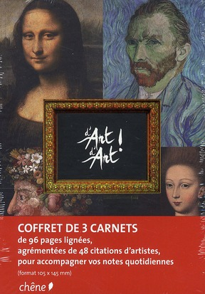 COFFRET DE 3 CARNETS DE NOTES D'ART D'ART A6