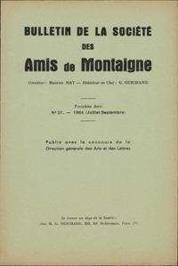 BULLETIN DE LA SOCIETE DES AMIS DE MONTAIGNE 1964 - 3, SERIE III, N  31 - VARIA