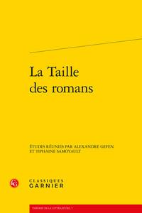 LA TAILLE DES ROMANS