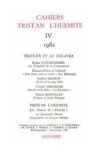 CAHIERS TRISTAN L'HERMITE 1982, IV - VARIA