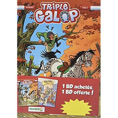 PACK DECOUVERTE TRIPLE GALOP T5 TOUTOU & CIE T1 OFFERT OP LIB LDS
