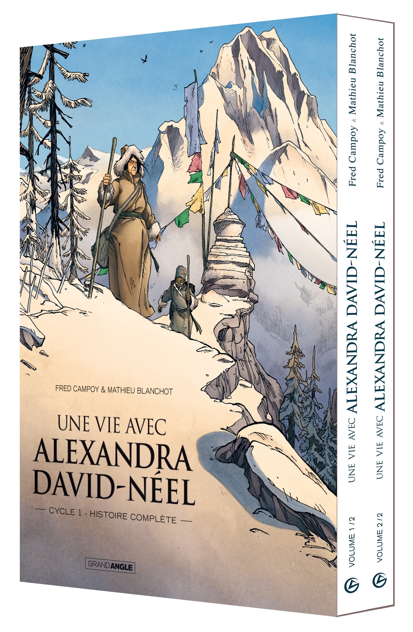 UNE VIE AVEC ALEXANDRA DAVID-NEEL - COFFRET TOME 1 - 2