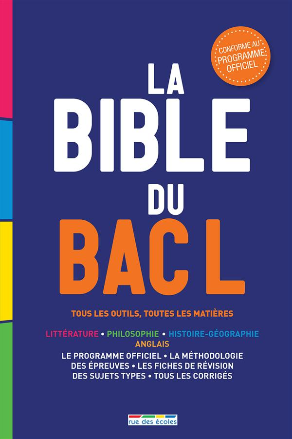 BIBLE DU BAC L EDITION 2015 (LA)