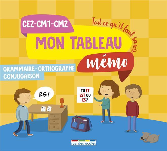 TABLEAU MEMO GRAMMAIRE ORTHOGRAPHE CONJUGAISON CE2-CM1-CM2 (MON)