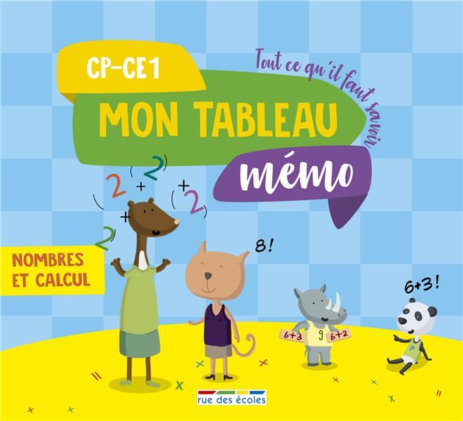 TABLEAU MEMO NOMBRES ET CALCUL CP-CE1 (MON)
