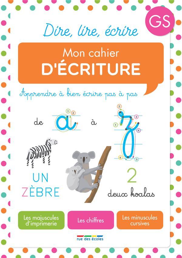 CAHIER D'ECRITURE GS (MON)