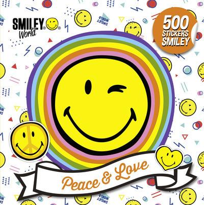 500 STICKERS SMILEY - PEACE & LOVE