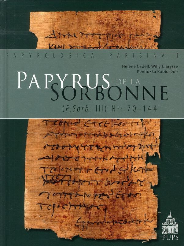 PAPYRUS DE LA SORBONNE