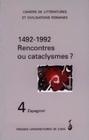 N  4 : 1492-1992 :  RENCONTRES OU CATACLYSMES ? (ESPAGNOL)