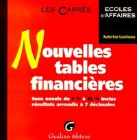 NOUVELLES TABLES FINANCIERES