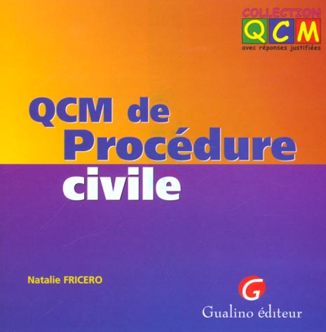 QCM DE PROCEDURE CIVILE