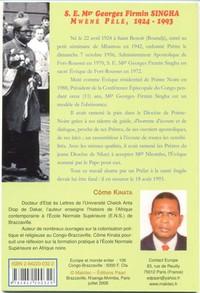 S. E. MGR GEOGES FIRMIN SINGHA MWENE PELE. 1924-1993