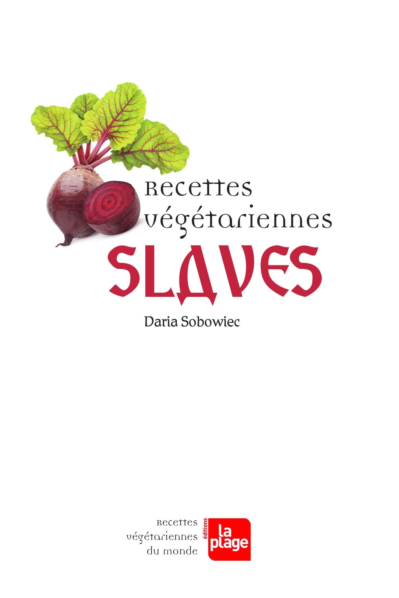RECETTES VEGETARIENNES SLAVES