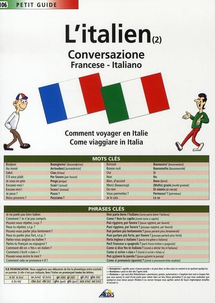 L'ITALIEN (2) LA CONVERSATION
