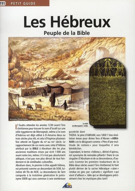 LES HEBREUX