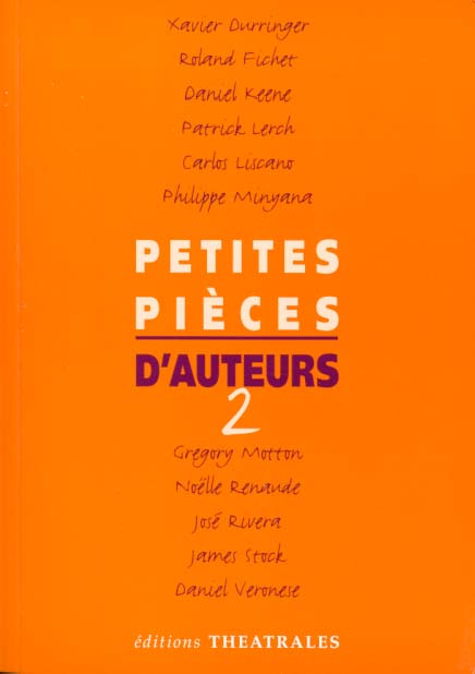 PETITES PIECES D'AUTEURS