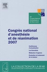 CONGRES NATIONAL D'ANESTHESIE ET DE REANIMATION 2007