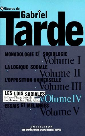 OEUVRES, T. 1, V. 4, LES LOIS SOCIALES
