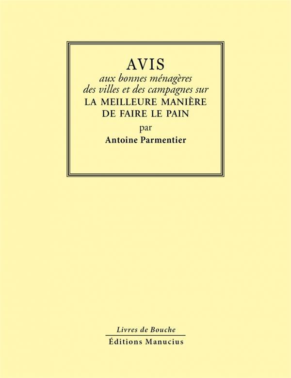 AVIS AUX BONNES MENAGERES...