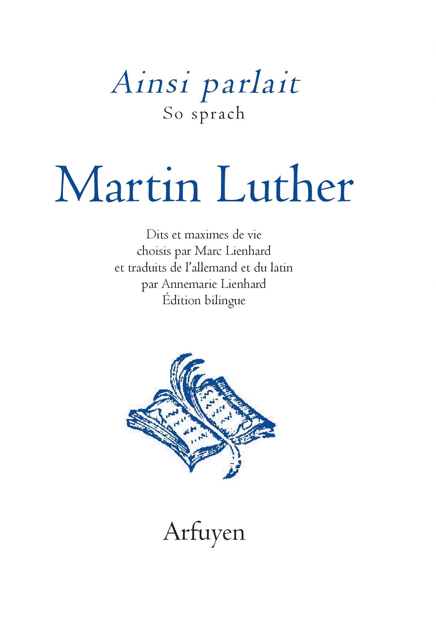 AINSI PARLAIT MARTIN LUTHER