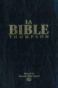 LA BIBLE THOMPSON TEXTE NBS RIGIDE, NOIR