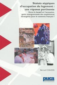 STATUTS ATYPIQUES D'OCCUPATION DU LOGEMENT : UNE REPONSE PERTINENTE...