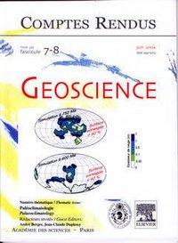 COMPTES RENDUS ACADEMIE DES SCIENCES, GEOSCIENCE, TOME 336, FASC 7-8, JUIN 2004 : PALEOCLIMATOLOGIE,