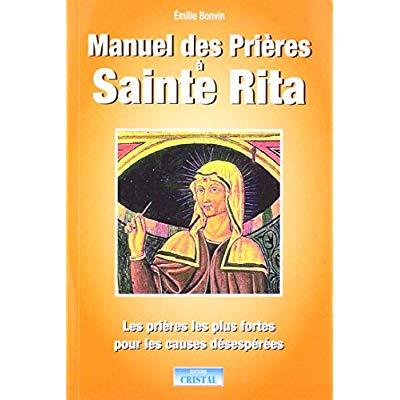 MANUEL DES PRIERES A SAINTE RITA