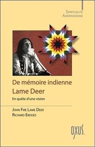 DE MEMOIRE INDIENNE - EN QUETE D'UNE VISION