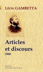 ARTICLES ET DISCOURS. 1868.