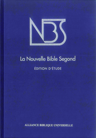 NOUVELLE BIBLE SEGOND EDITION D'ETUDE