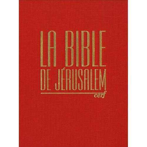 BIBLE DE JERUSALEM MAJOR TOILE ROUGE SOUS COFFRET