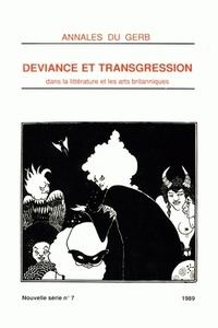 ANNALES DU GERB (GROUPE D'ETUDES ET DE RECHERCHES BRITANNIQUES/MSHA).  NOUVELLE SERIE. N 7/1989. DEV