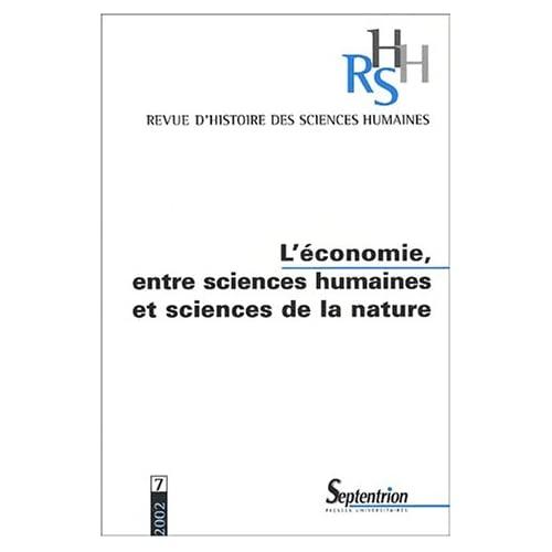 ECONOMIE ENTRE SCIENCES HUMAINES ET SCIENCES DE LA NATURE
