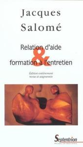 RELATION D'AIDE ET FORMATION A L'ENTRETIEN