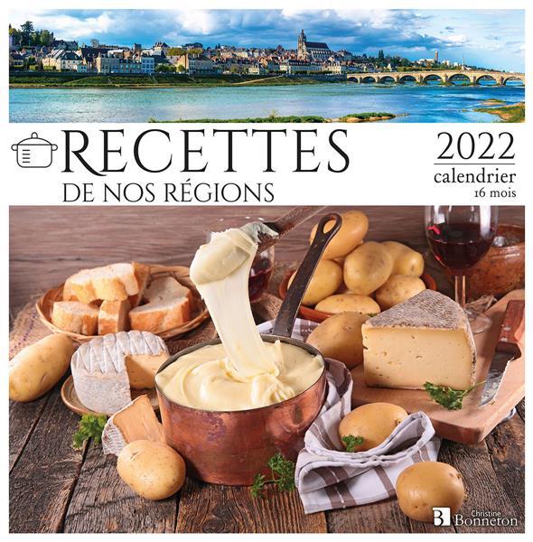 CALENDRIER RECETTES DE NOS REGIONS 2022
