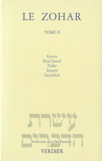 LE ZOHAR GENESE T.2